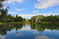 The pond and palace in Gatchina garden. - PhotoDune Item for Sale