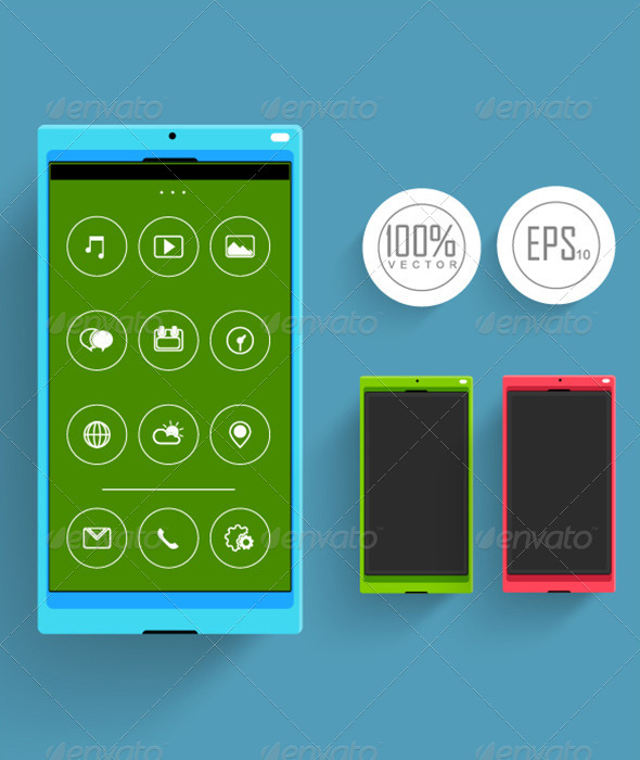 GraphicRiver Flat Mobile Device 7142099