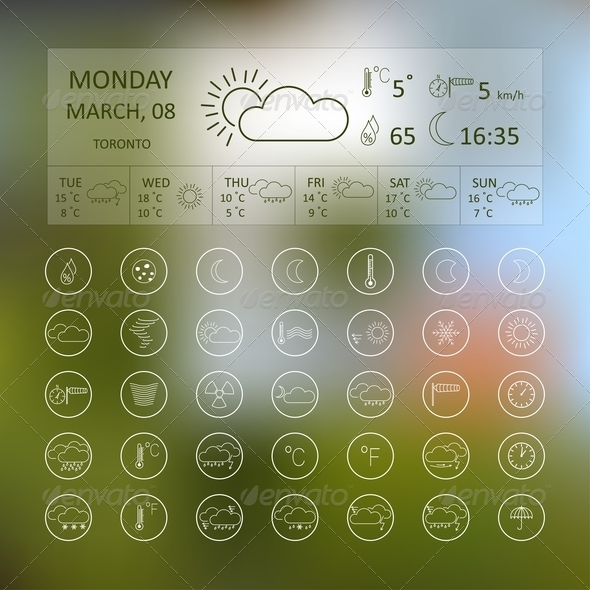 GraphicRiver Weather Icons 7198251