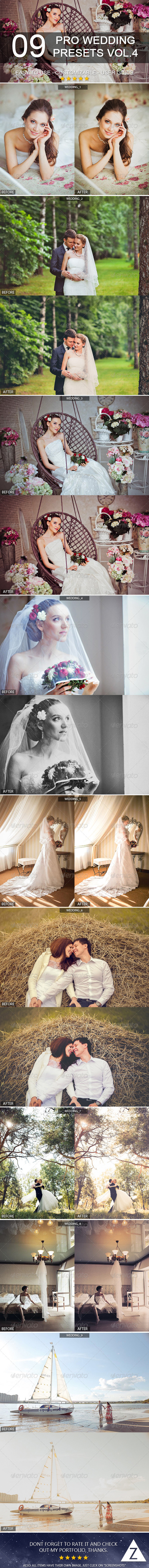 GraphicRiver 9 Pro Wedding Presets vol.4 7198261