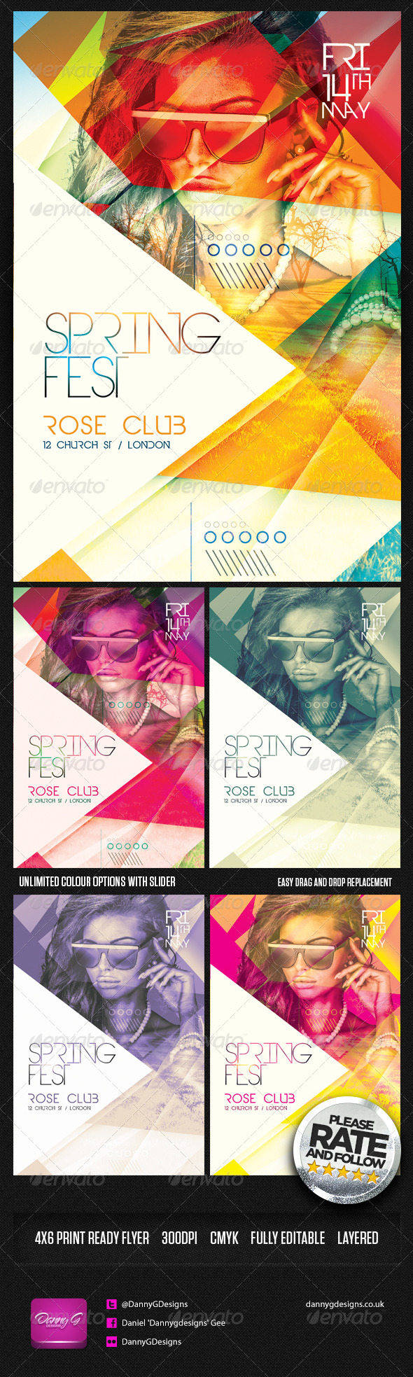 GraphicRiver Spring Fest Flyer Template PSD 7167472