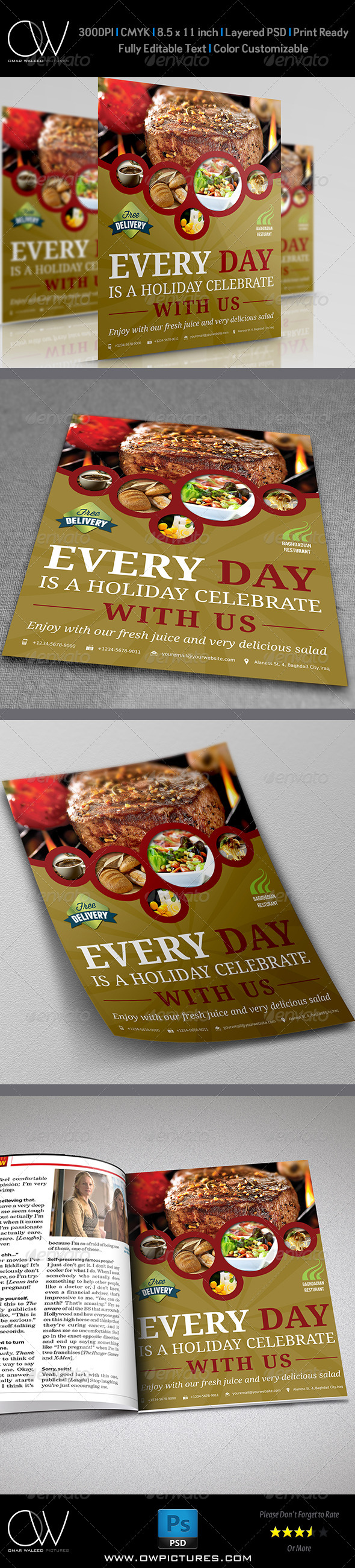 GraphicRiver Restaurant Flyer Template Vol.4 7198274
