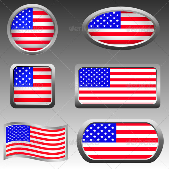 GraphicRiver USA Icons 7198302