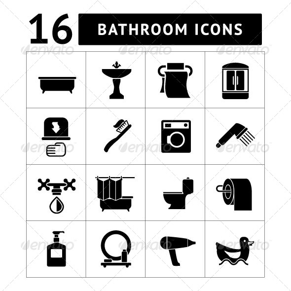 GraphicRiver Set Icons of Bathroom and Toilet 7165883