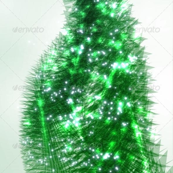 GraphicRiver Abstract Christmas Tree 7198344