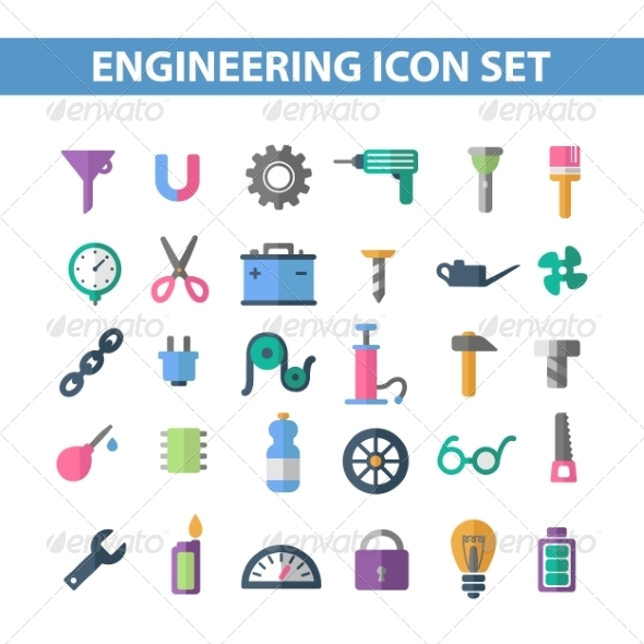 GraphicRiver Flat Icons 7198429