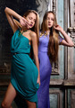 Two beautiful women posing in obsolete interior. - PhotoDune Item for Sale
