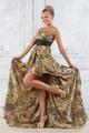 Beautiful bonde woman in leopard patterned  long dress. - PhotoDune Item for Sale