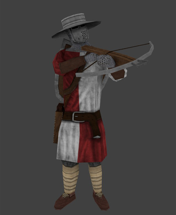 Low Poly Rigged Crossbowman  - 3DOcean Item for Sale