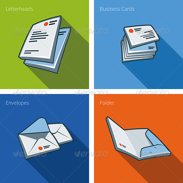 GraphicRiver Icon Set of Letterheads and Business Cards 7199183