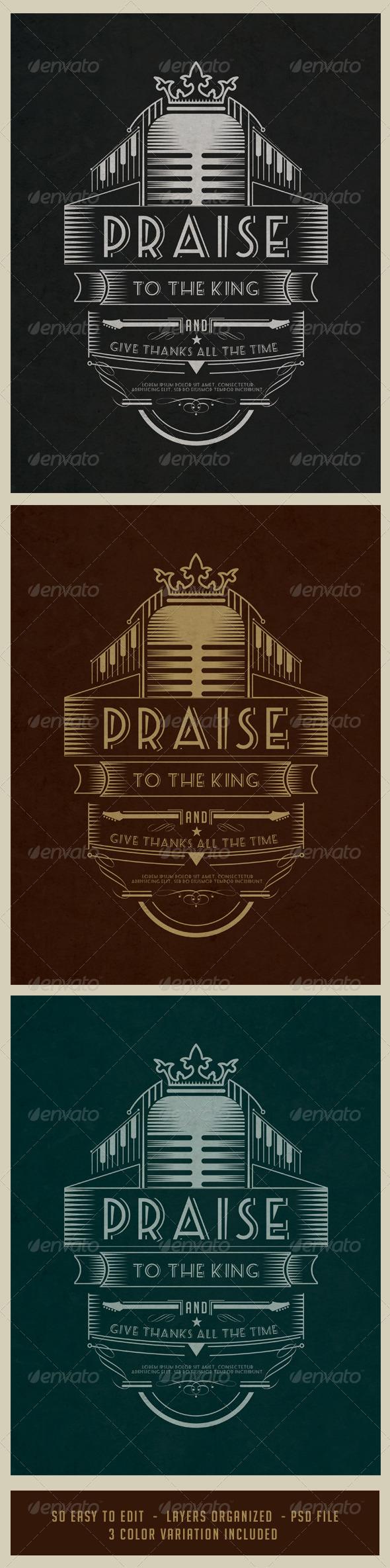 GraphicRiver Vintage Poster Music V.02 7199210
