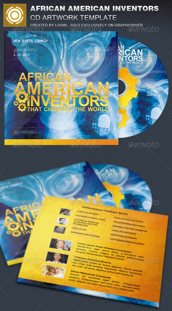 GraphicRiver African American Inventors CD Artwork Template 7199213