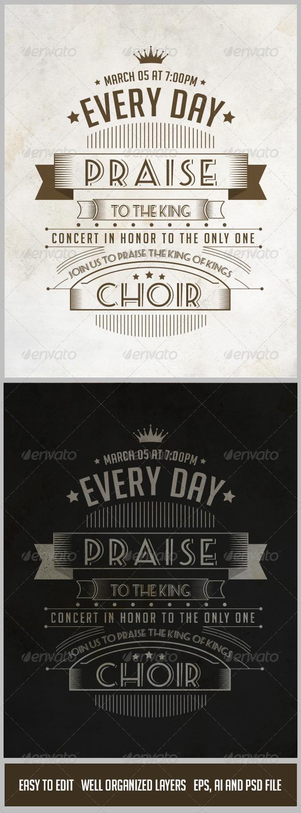 GraphicRiver Vintage Poster in Vector Format V.01 7157631