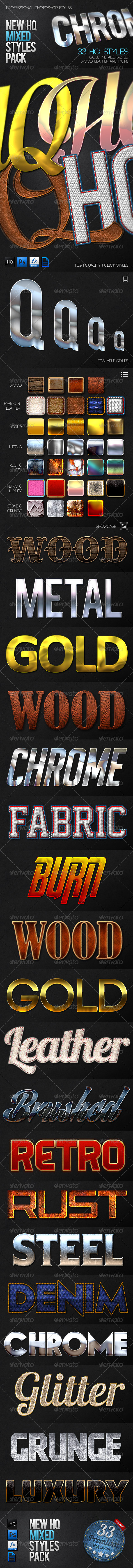 New HQ Mixed Styles Pack - Styles Photoshop