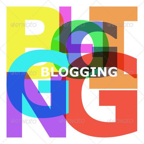 Blogging - abstract color letters - Stock Photo - Images