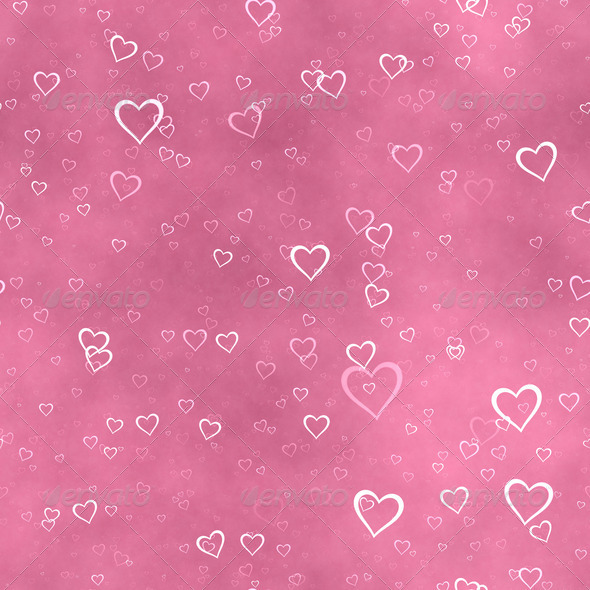 Red hearts background - Stock Photo - Images