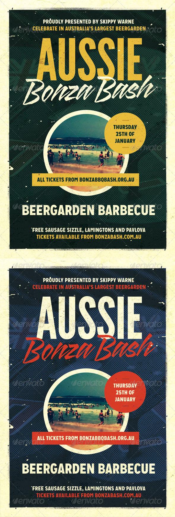 GraphicRiver Bonza Australia Day Flyer Template 7199783