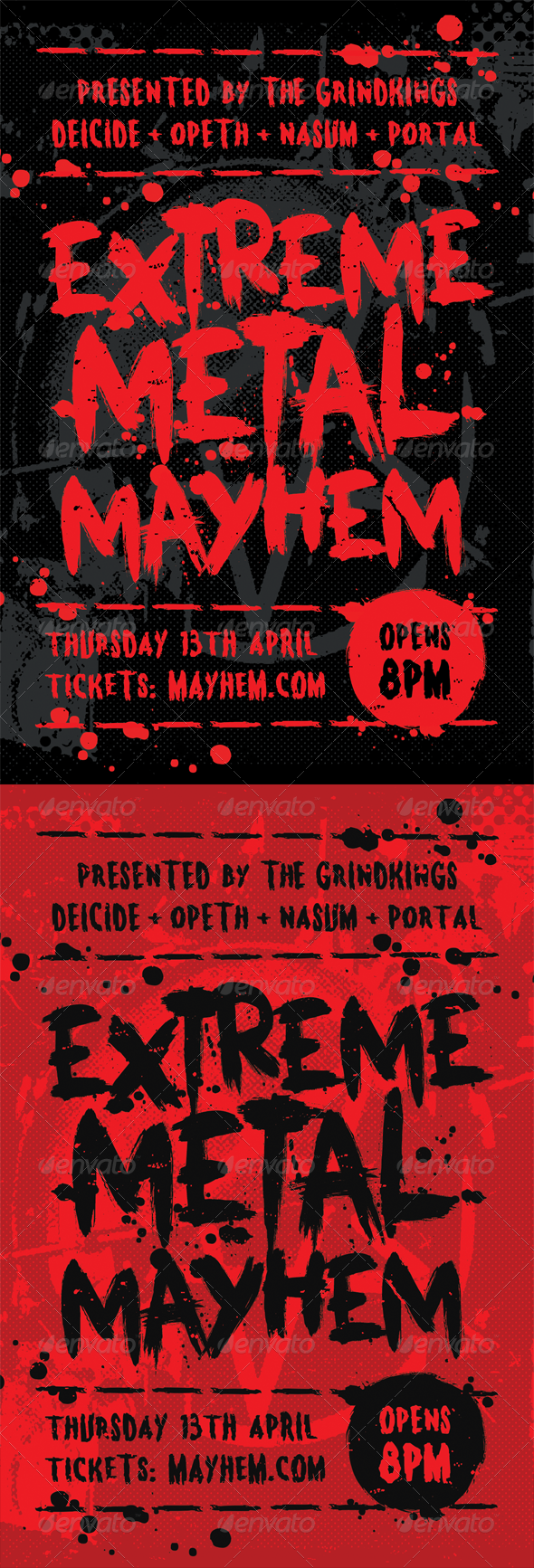 GraphicRiver Mayhem Heavy Metal Flyer Template 7199816