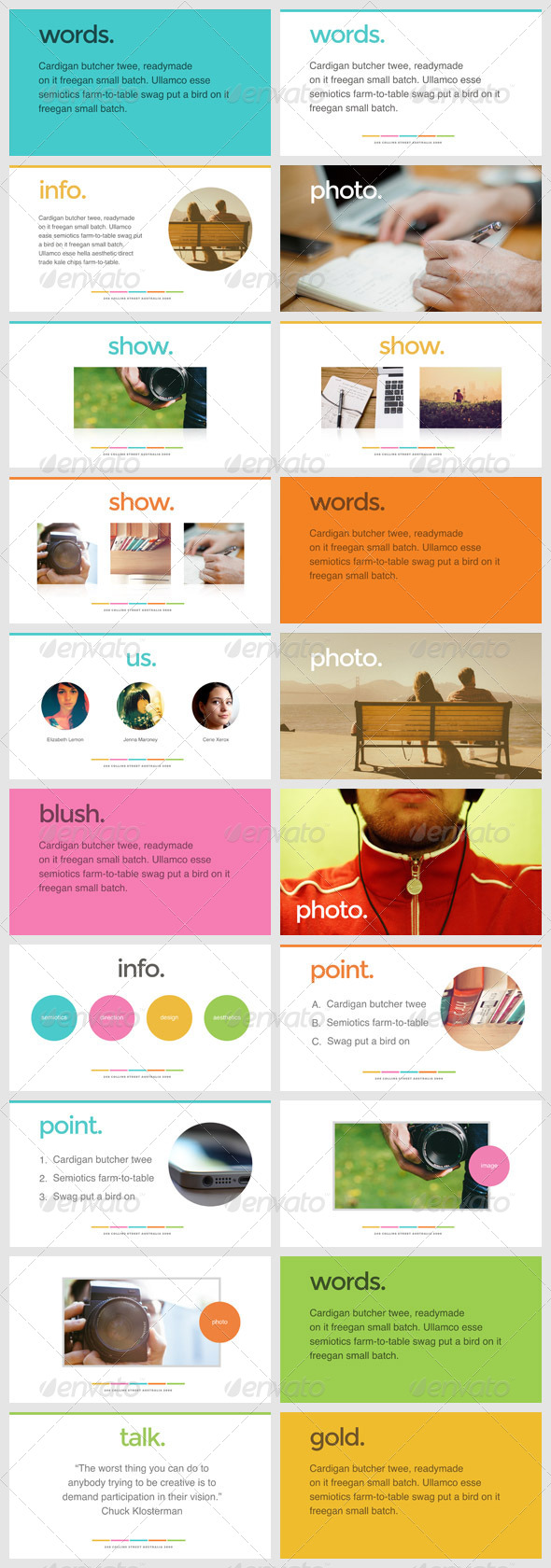 GraphicRiver Sweet Keynote Presentation Template 7199859