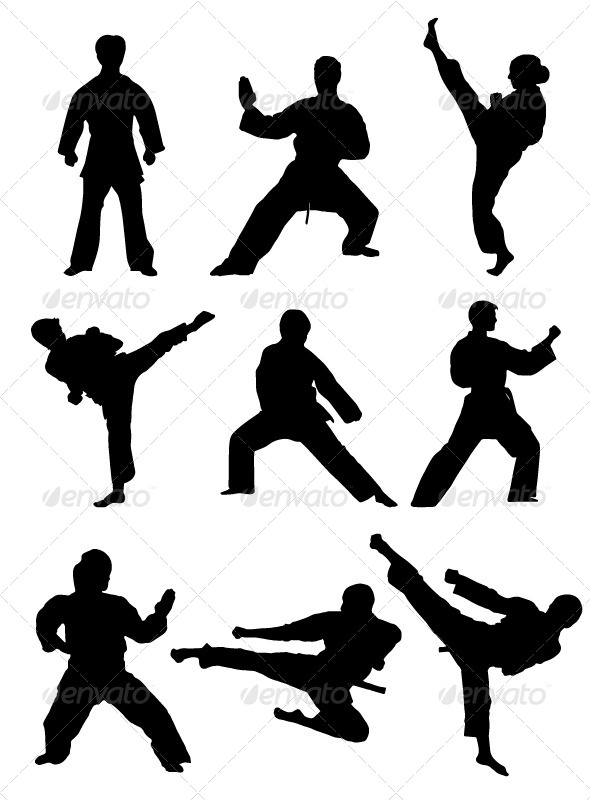 GraphicRiver Karate Silhouettes 7199969