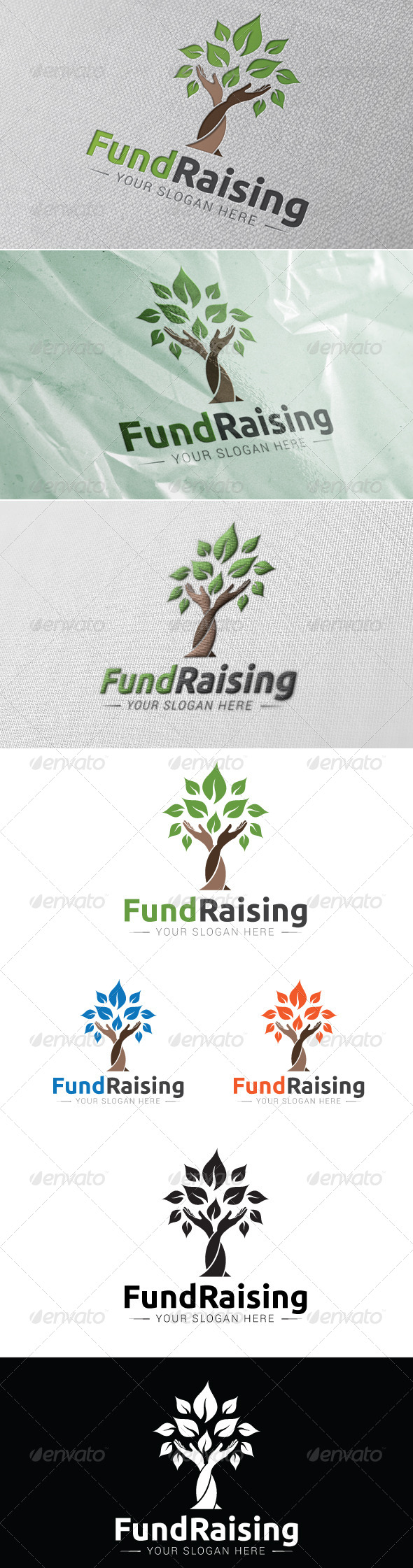 GraphicRiver Fund Raising Logo Template 7157772