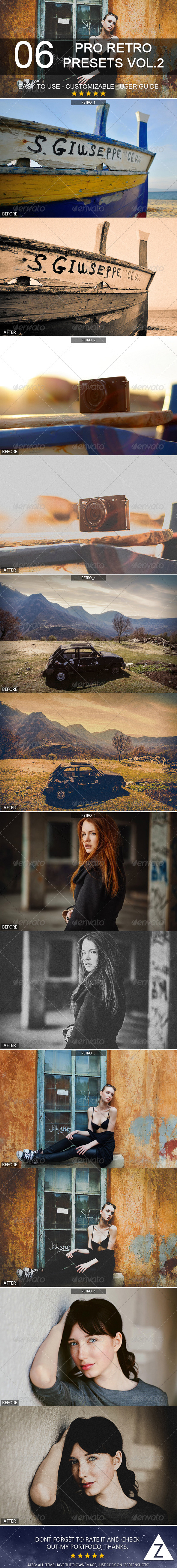 GraphicRiver 6 Pro Retro Presets vol 2 7200110