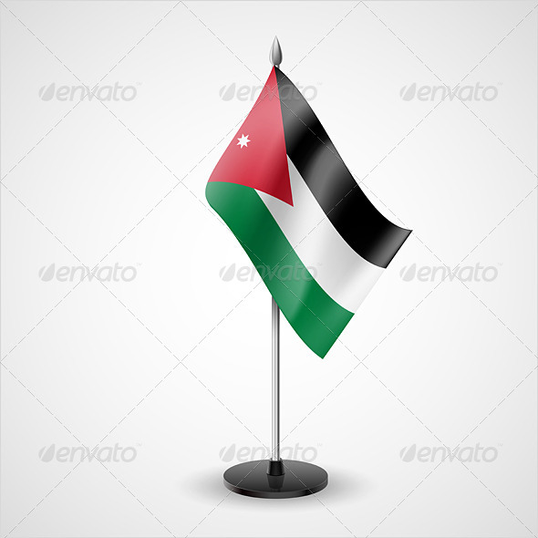 Table Flag of Jordan