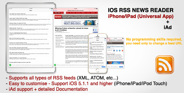 CodeCanyon RSS News Reader for iPhone iPad iPod Touch & iAd 7143270