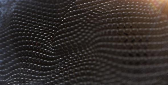 Black Balls Surface Waving