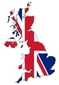 Map of UK with flag - PhotoDune Item for Sale