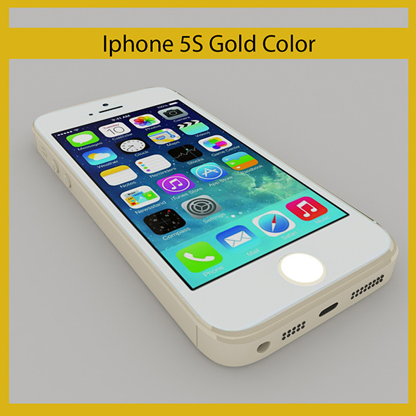 3DOcean Iphone 5S Gold 7200458