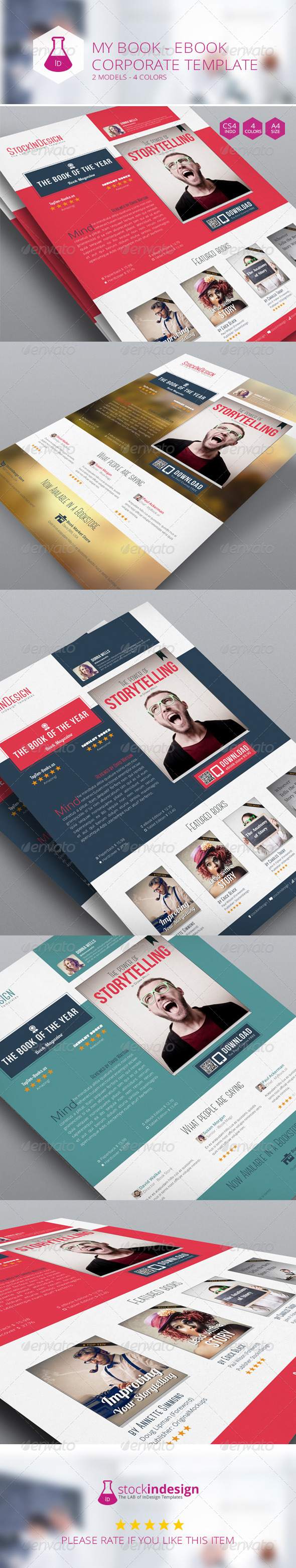 GraphicRiver My Book Ebook Promotion Flat Design 7162463
