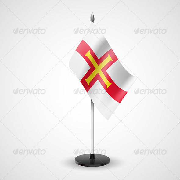 Table Flag of Guernsey