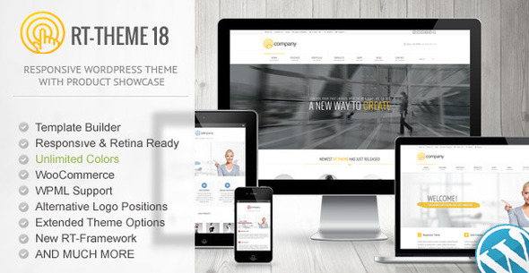 RT-Theme 18 Responsive Wordpress Theme - Business Corporate