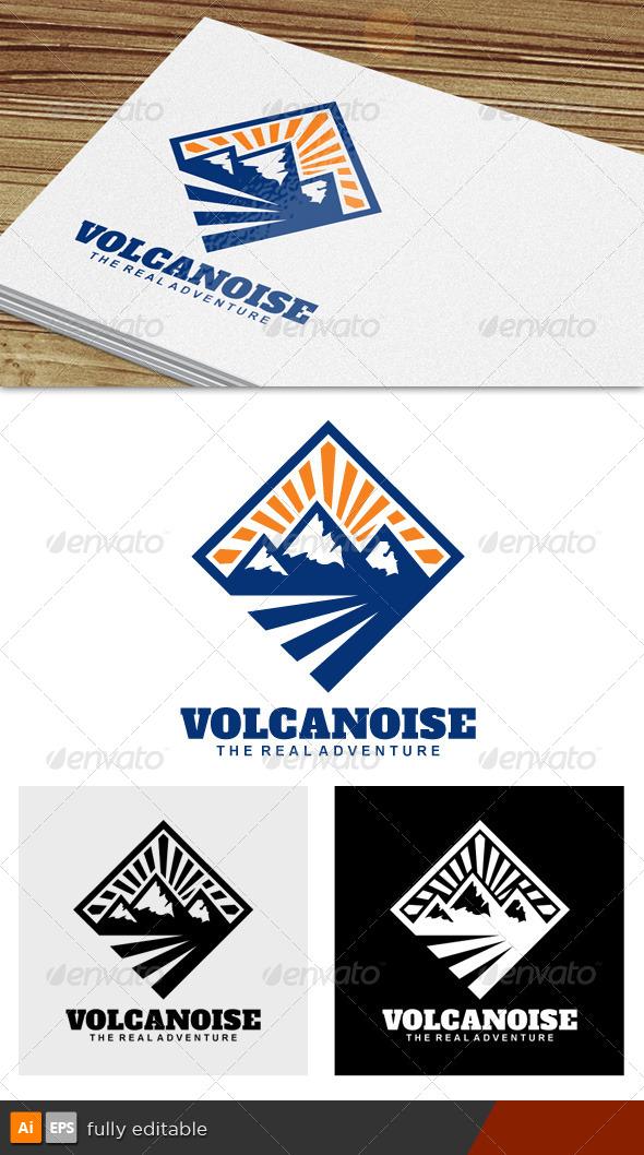 GraphicRiver Volcanoise Adventure Logo 7166339