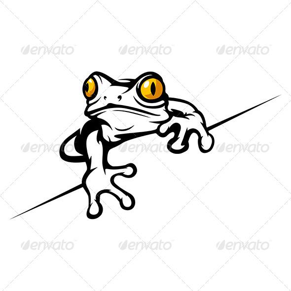GraphicRiver Cartoon Tropical Frog 7200812