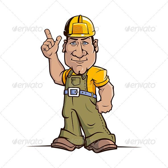 GraphicRiver Cartoon Builder Worker 7200820