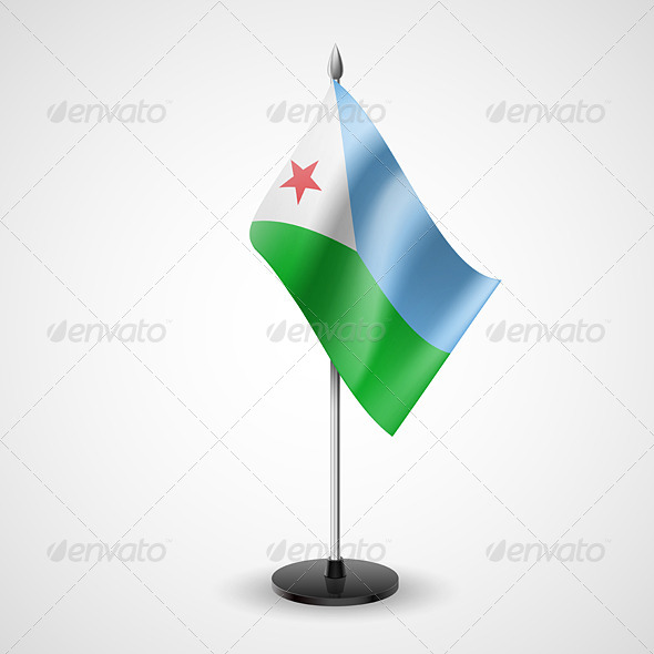 Table Flag of Djibouti