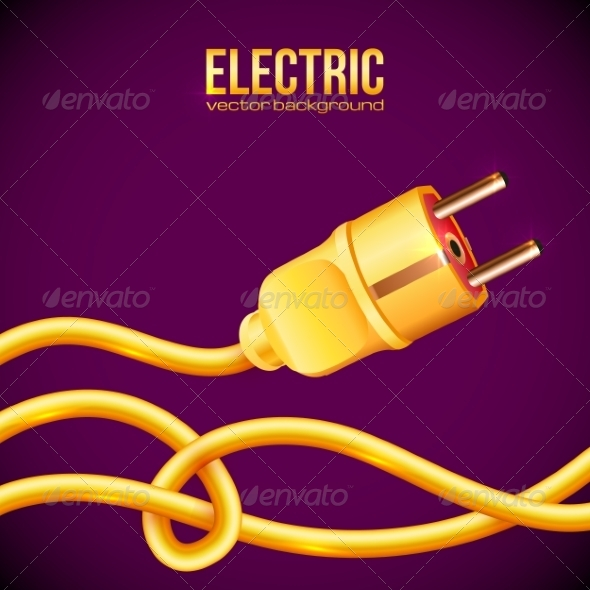 GraphicRiver Yellow Electric Plug and Cables 7201281