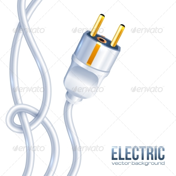 GraphicRiver White Electric Plug and Cables 7201286