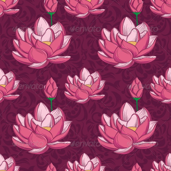 GraphicRiver Lotus Ornamental Pattern 7201392