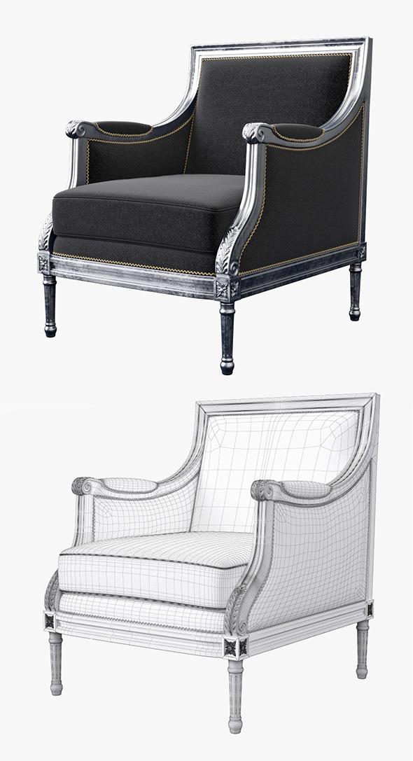 3DOcean Classic Armchair Sillon 7201394