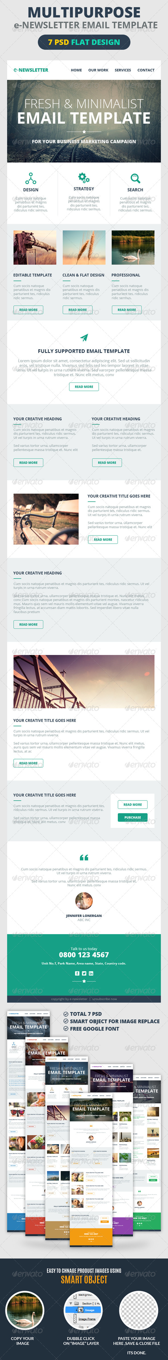 GraphicRiver Multipurpose E-Newsletter Email Template 7201434