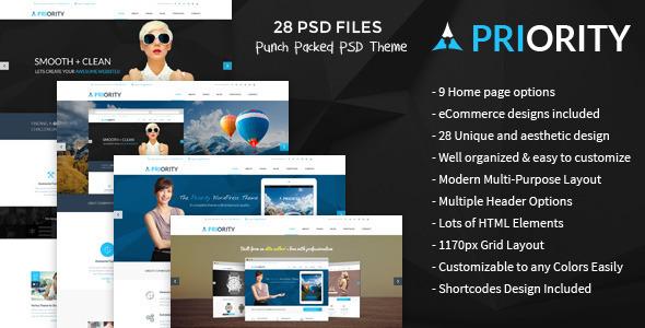 Priority | Multi-Purpose PSD Template
