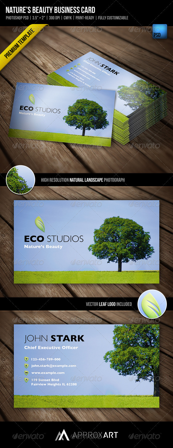 GraphicRiver Nature's Beauty Business Card 754930