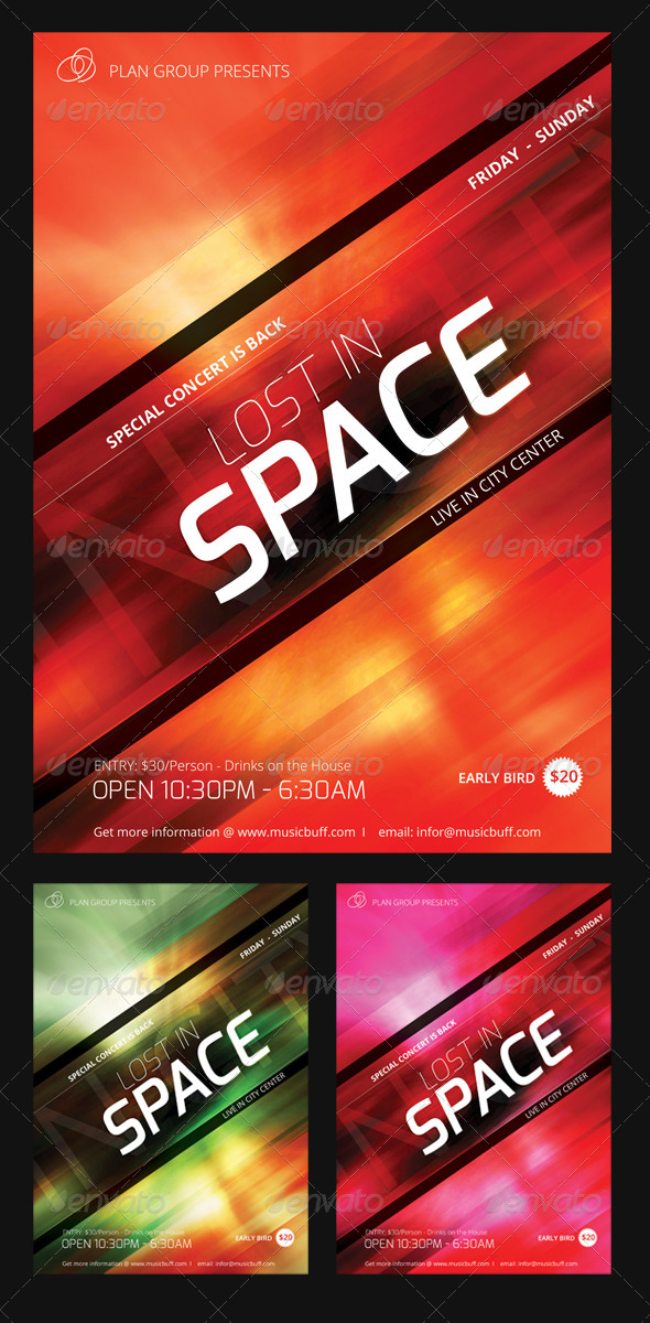 GraphicRiver Lost in Space Flyer Set 7162817