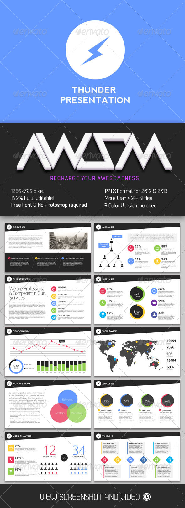 GraphicRiver Thunder PowerPoint Presentation 7202346