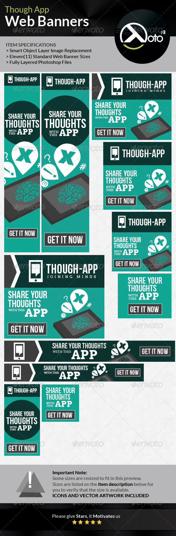 GraphicRiver Though App Idea Cloud Web Banners 7202478