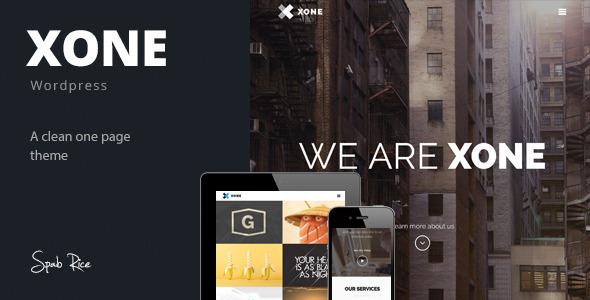 ThemeForest Xone Clean One Page Wordpress Theme 7151468