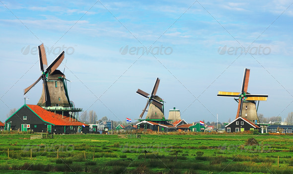 Dutch Landscape - Stock Photo - Images